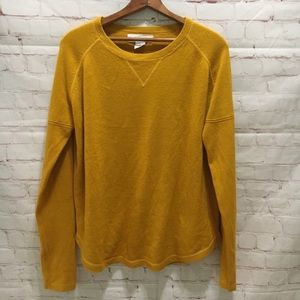 Workshop mustard yellow sweater thumb holes large